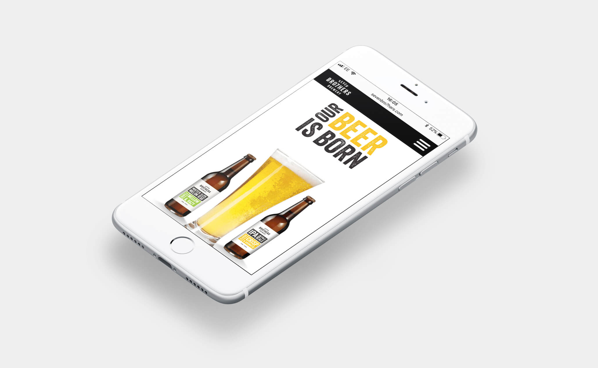 Seven Brothers Brewery website (iPhone)