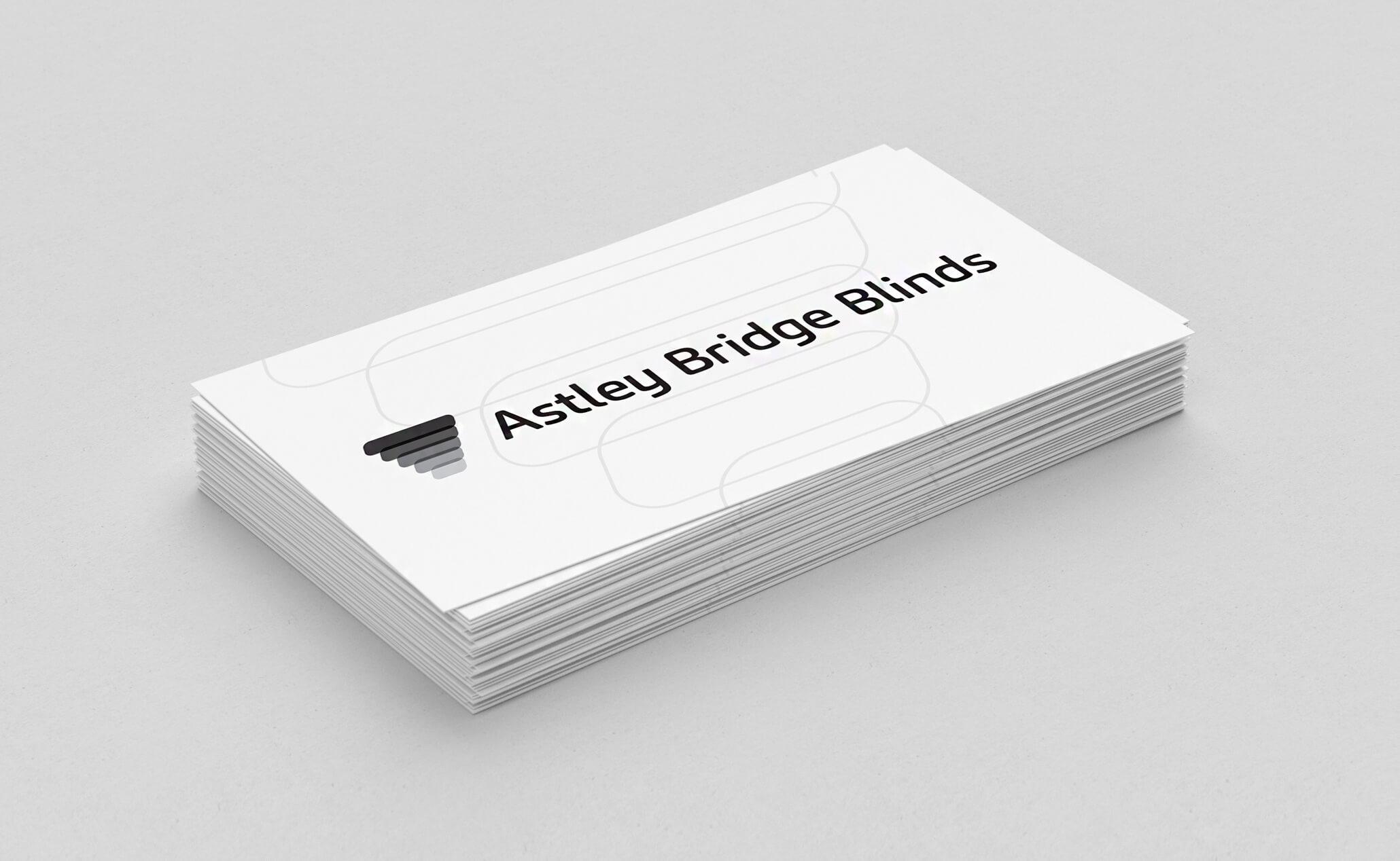 Astley Bridge Blinds business cards