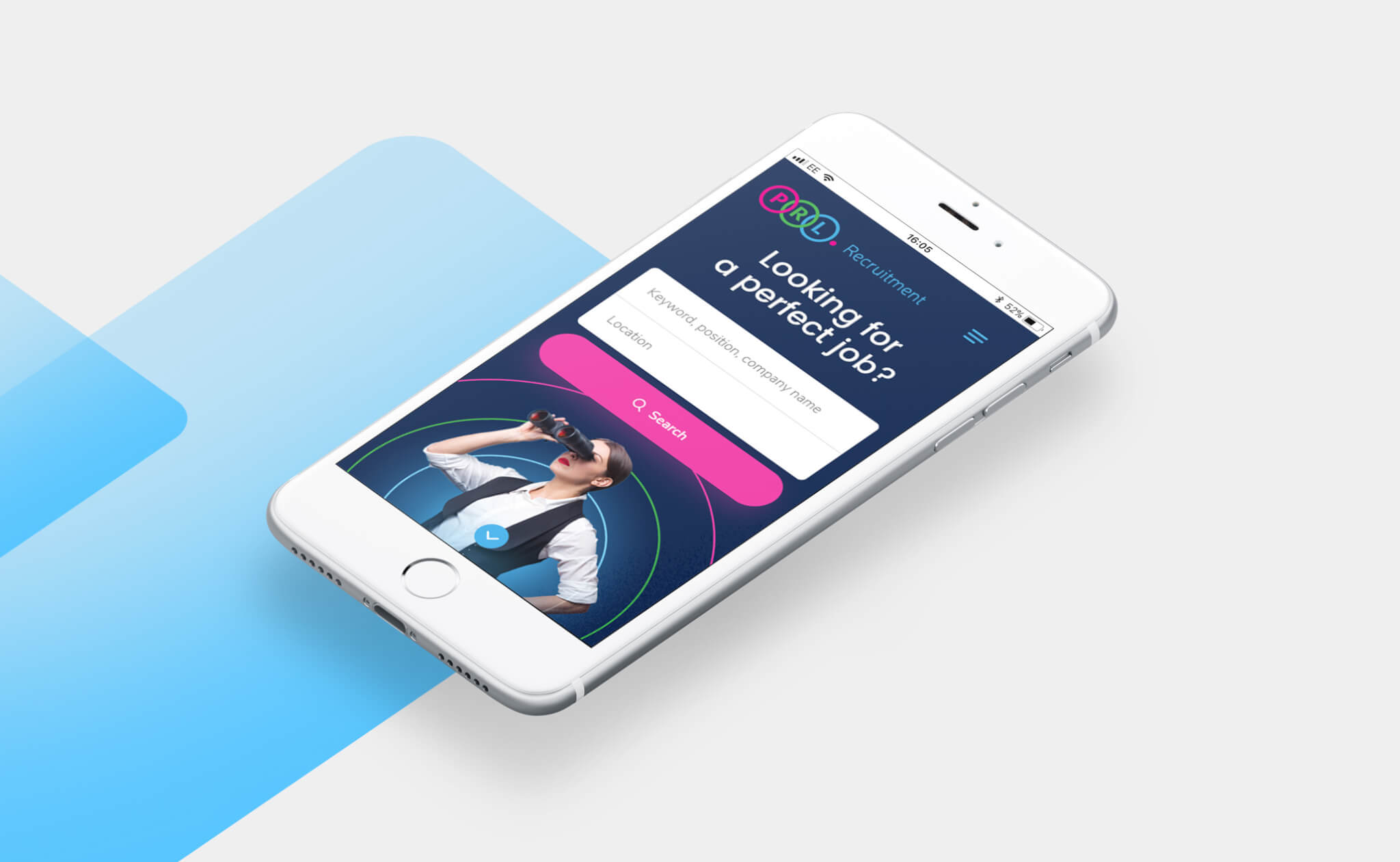 PRL Recruitment website project