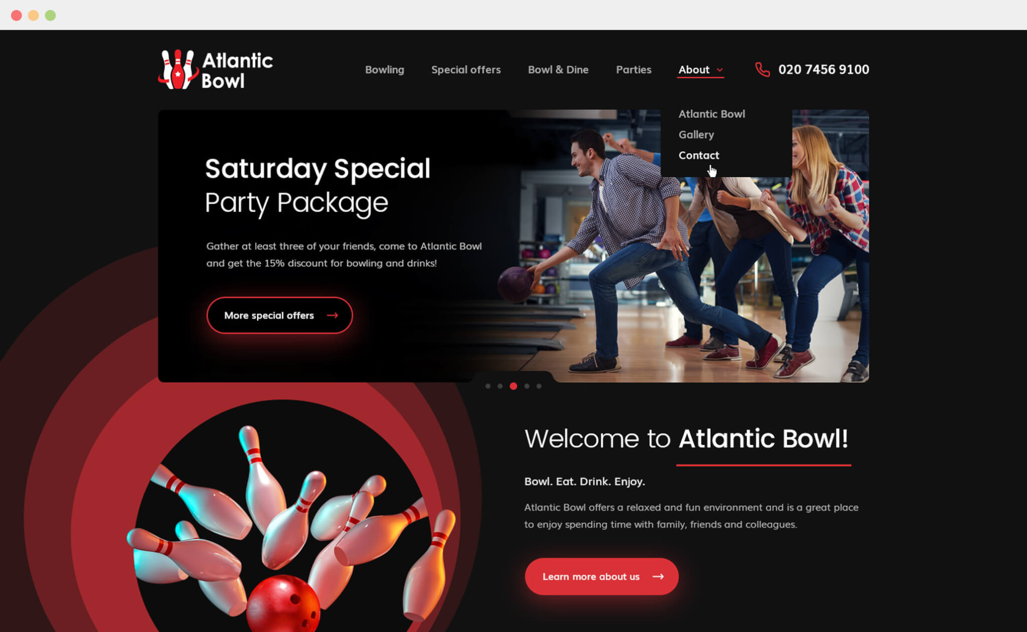 Atlantic Bowl website project