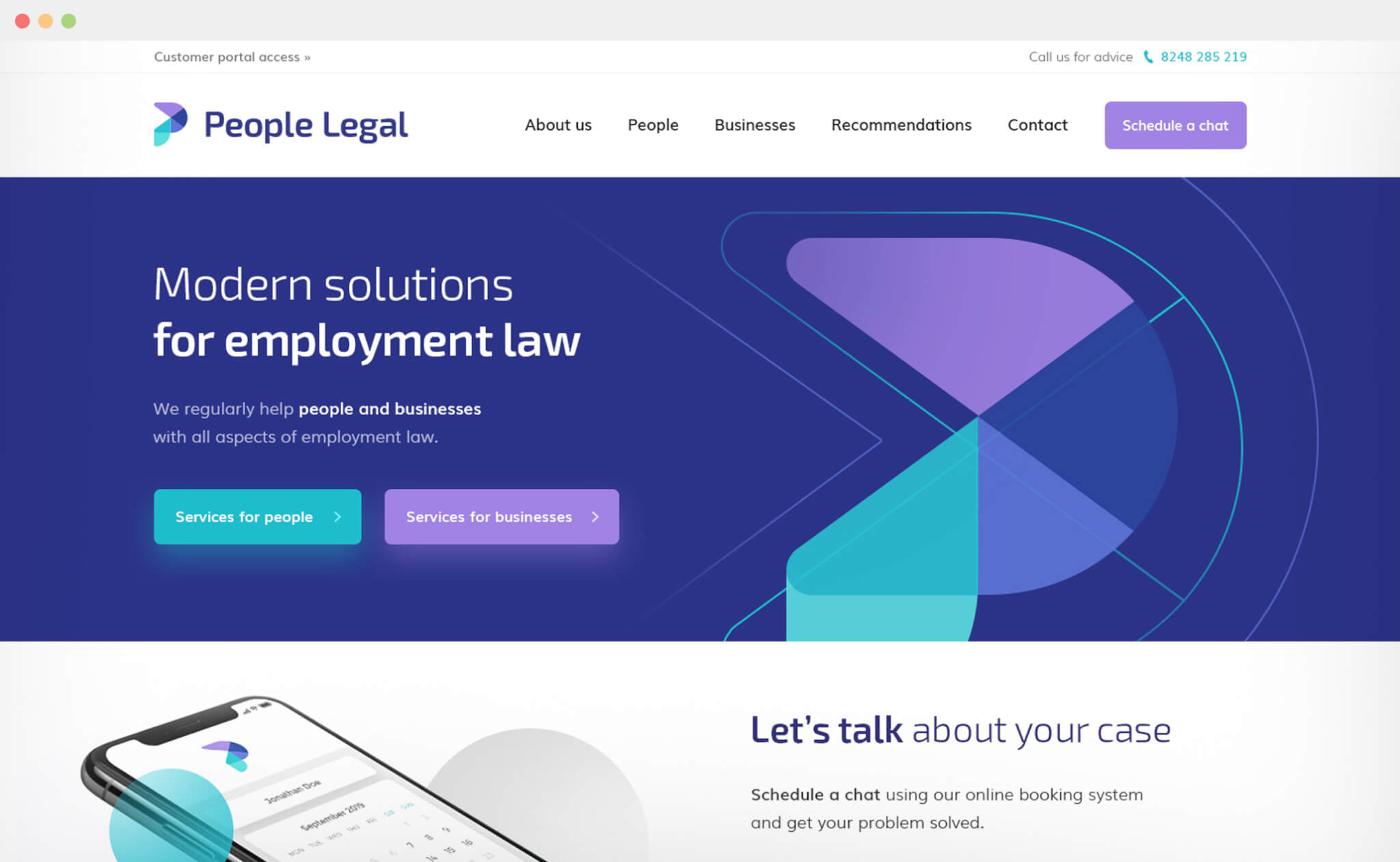 People Legal website design
