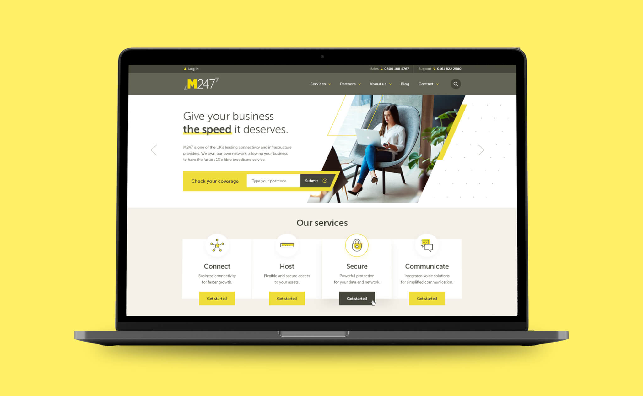 M247 website design project