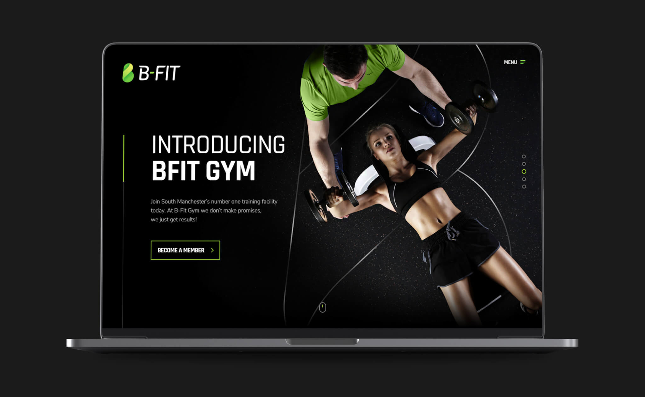 B-Fit gym website design project