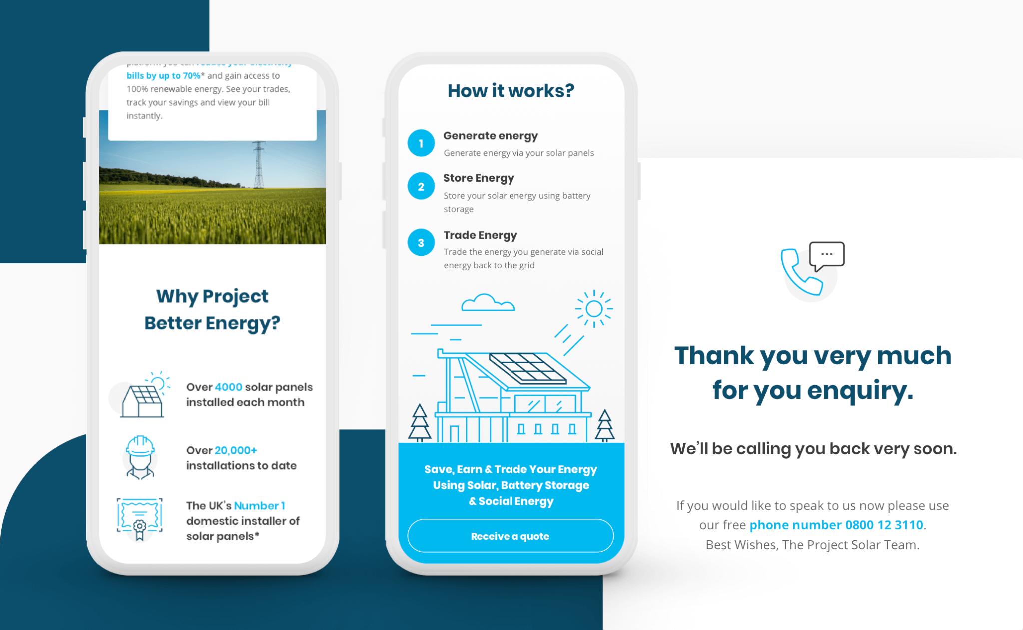 Solar and Battery Scheme website design project