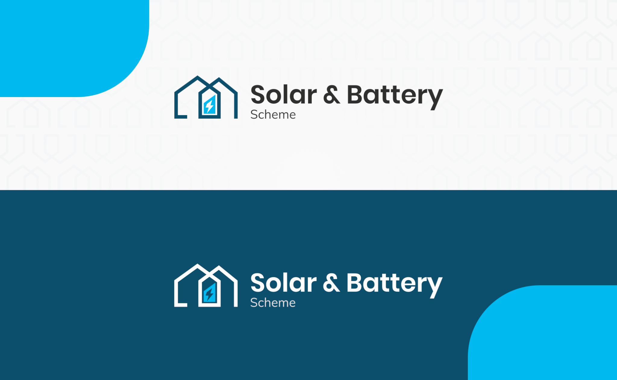 Solar and Battery Scheme logo design project