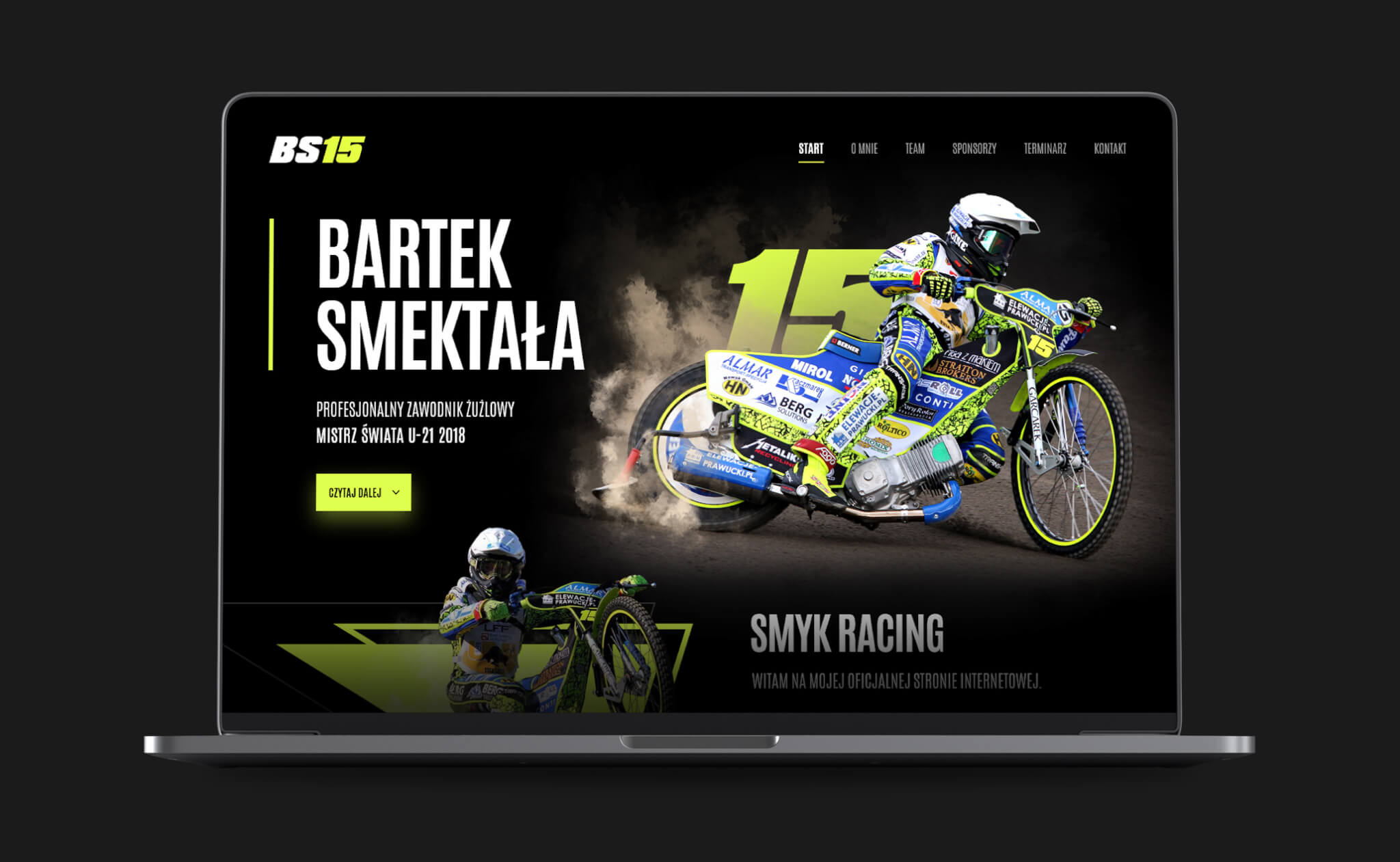 Bartek Smektała website project