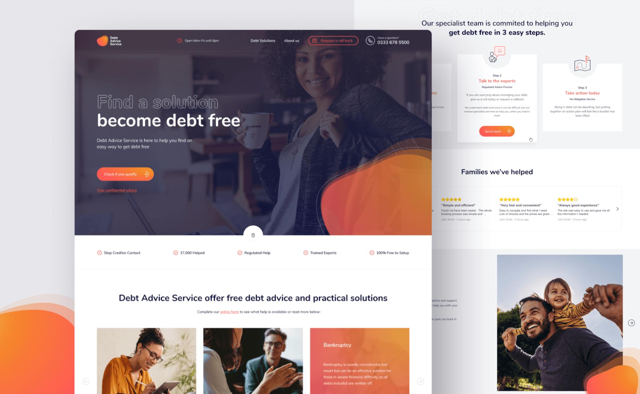 Debt Advice Service website project